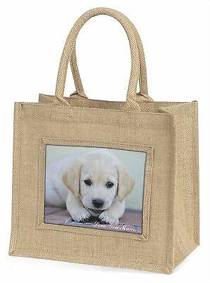 Labrador Welpen 'Liebe, die Sie Mama' Große Natürliche Jute-einkaufstasche Chri,