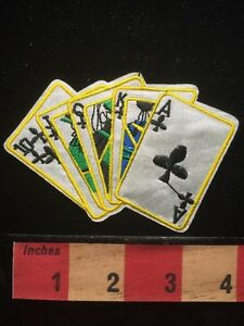 Poker-Gamble-Royal-Flush-Card-Playing-Jacket-Patch-Ace-Clubs-King-Queen-Jack-657