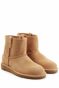 4d4db4a0e95 Details about UGG Classic Unlined Mini Perforated Suede Leather BOOTS  Booties Size 6 7 NEW