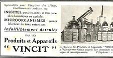 """VALENCE-SUR-RHONE PRODUITS & APPAREILS """" VINCIT """"  PUBLICITE 1912"""
