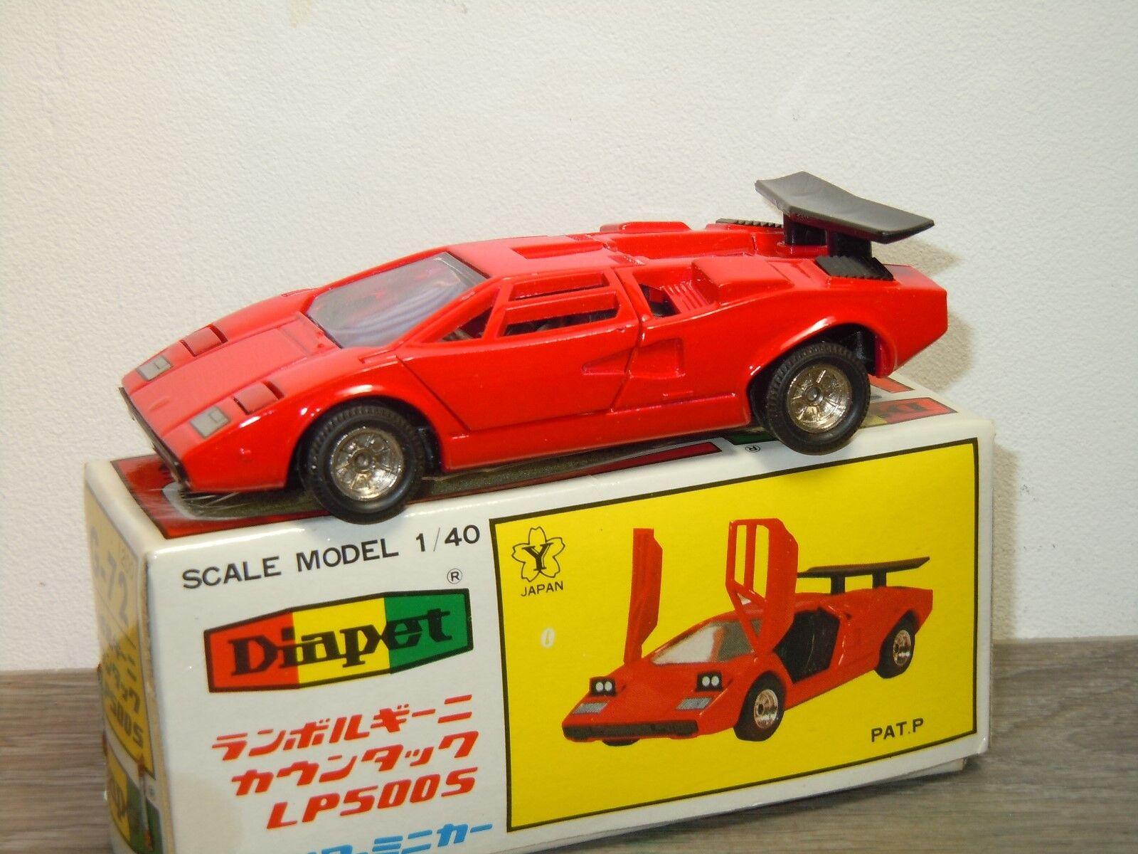 Lamborghini Countach LP500S - Diapet Yonezawa Toys G-72 Japan 1 40 in Box 34456