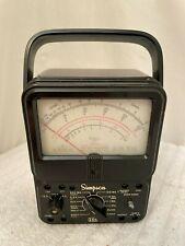Simpson 260 6p 1970s Vintage Multimeter Volt Ohm Milliamp Meter Read
