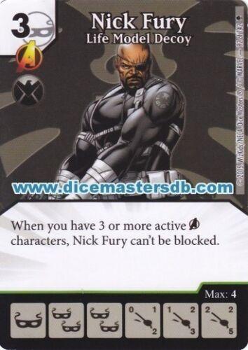 Marvel Dice Masters Age of Ultron Nick Fury Life Model Decoy #92