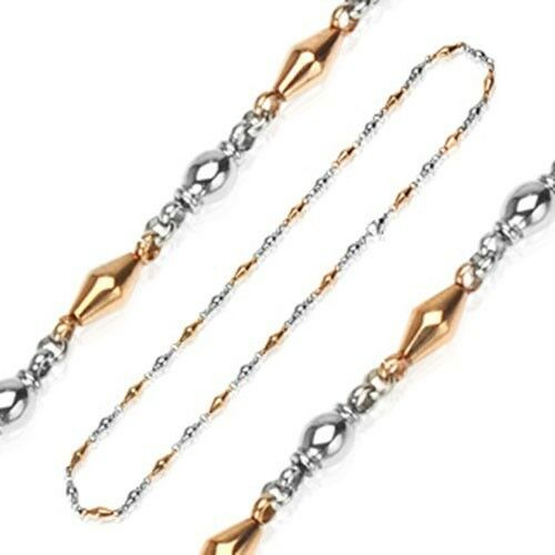 Stainless Steel IP Coffee Two Tone Chandelier Necklace K262