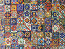 100 MEXICAN TILES talavera 2x2 handpainted tile assorted ceramic sale