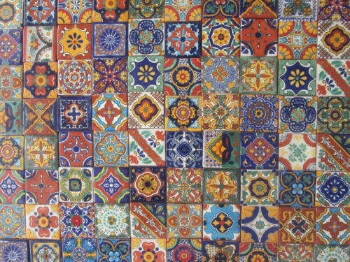100 MIXED DESIGNS Mexican tile handmade talavera backsplash mosaic 2 X 2/""