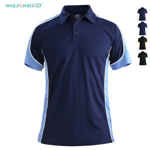 Men-Polo-Shirts-Shorts-Sleeve-Rugby-Golf-T-Shirt-Pullover-Badminton-Tennis-Shirt