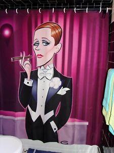Glen-Hanson-Licensed-Julie-Victoria-Victor-Andrews-Shower-Curtain