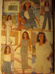 4054-Vintage-Butterick-Naehen-Muster-Kleid-Top-Hose-Schnell-Einfach-Shorts-Oop