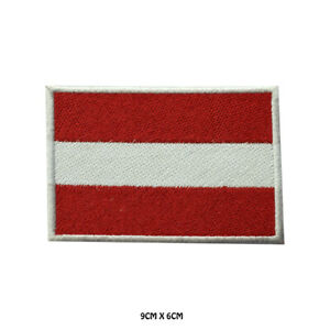 Austria National Flag Embroidered Patch Iron on Sew On Badge For Clothe etc