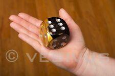 DICE GEMINI Black & Gold - JUMBO d6 Big Large GIGANTIC HUMONGOUS 50mm OOP DG5051