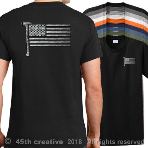 american firefighters shirt firemen fireman shirt USA Firefighter Flag T-Shirt