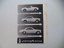 advertising Pubblicità 1960 LANCIA FLAMINIA COUPE'/FIAT 1500/GIULIETTA SPIDER