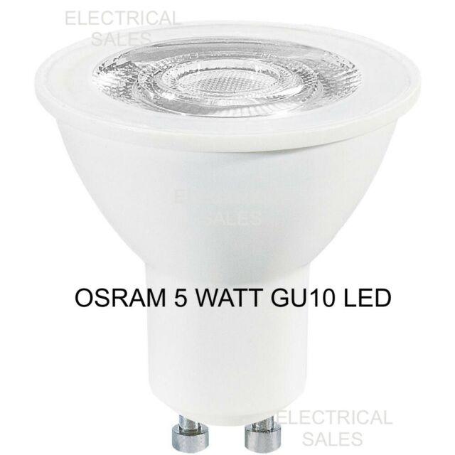 Osram 5 Watts 5w Gu10 Led Ampoule Lampe Lumière Par16 Blanc Froid 4000k A+
