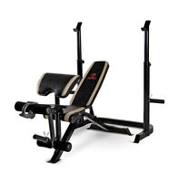 Marcy Two Piece Multipurpose Home Gym Workout Strength Weight Bench | Md879 on Sale