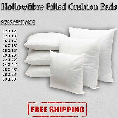 Hollowfibre Cushion Pad Inserts Fillers Inners All Sizes12 14 16 18 20 22 24 26