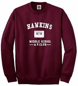 Hawkins Middle School Av Club Stranger Things Unisex Jumper