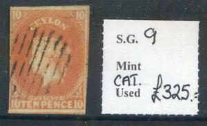 Ceylon-1857-9-10d-dull-vermillion-Chalon-Head-4-good-margins-used-2017-11-08-10