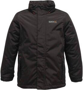 BNWT-Regatta-Boys-Black-Waterproof-Insulated-Rain-Jacket-W-Hood-3-4-Yrs-NEW