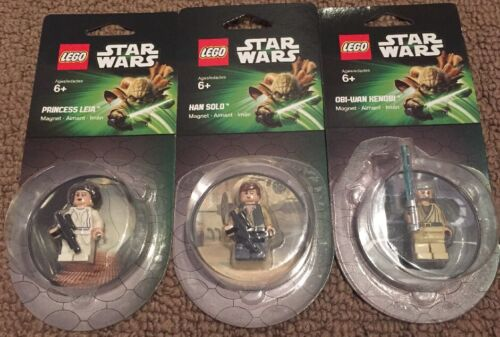 Lego Star Wars 850637 Princess Leia 850638 Han Solo 850640 Obi Magnet Minifigure