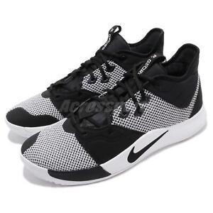 6b8e4567d11 Nike PG 3 EP Paul George Black White Mens Basketball Shoes Sneakers ...