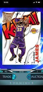 NBA-Panini-Dunk-Lebron-James-FOTL-Crown-Royale-Kaboom-33-40-Rare-Digital-Card