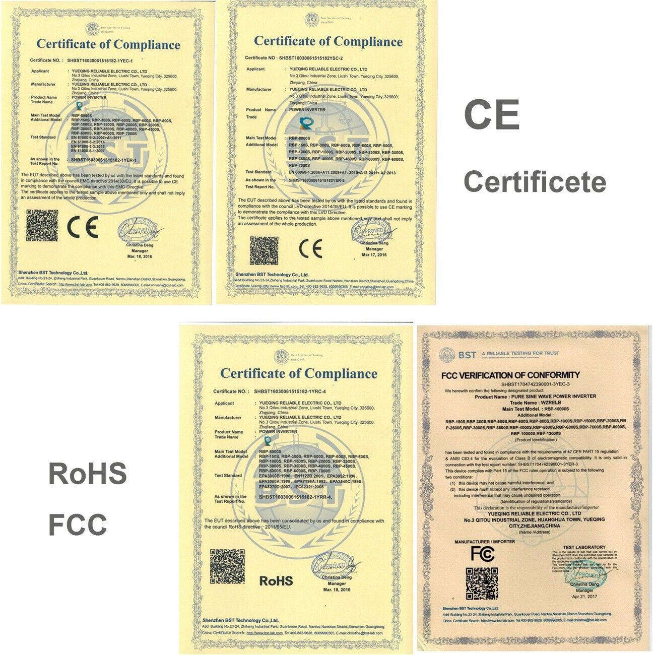 3000 Watt Car Power Inverter 12 24 Volt Dc To 120 220 Ac Pure Simple Low Circuit 12v 230v Or 110v Diagram Sine Wave Solar Ebay