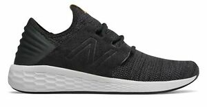New-Balance-Men-039-s-Fresh-Foam-Cruz-V2-Knit-Shoes-Black-With-Grey