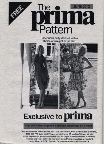 Vestido de fiesta cuello halter Slim Full Skirt prima patrón de costura 10 12 14 16 18 20