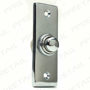 75mm POLISHED CHROME DOOR BELL BUTTON Front Porch Ring Press/Push Plate Knocker 5056011413259