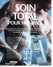 PUBLICITE ADVERTISING 116  1996  Gillette  gel douche homme