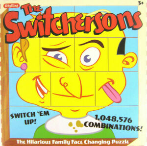 SWITCHERSONS-Changeable-Charlie-Wood-Toy-Puzzle-Blocks-Vtg-Retro-Million-Faces