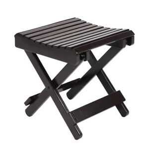 Bamboo Folding Step Stool Portable Household Small Bench