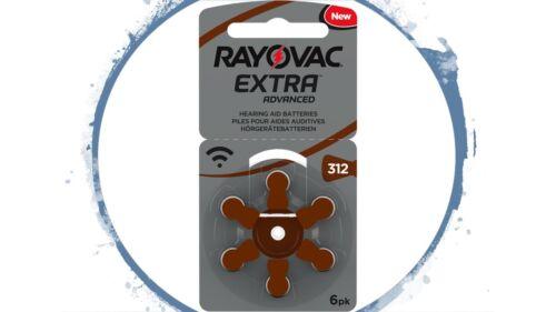 180 x Rayovac Extra Typ 312 AE Hörgerätebatterien Hörgeräte-Batterien PR41