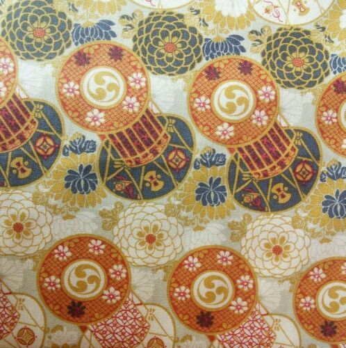 Japanese Print Blend Fabrics 110cm wide Cotton Fabric Per 10cm-cut as one piece