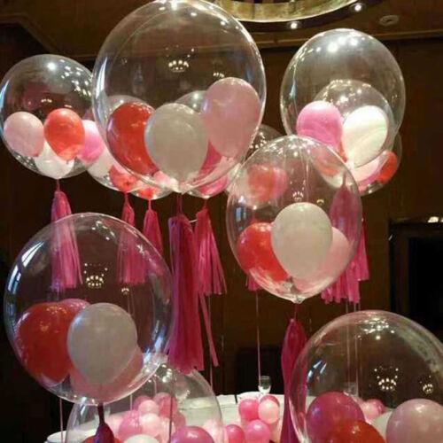 10pcs Bobo Balloon Transparent PVC Balloon DIY Wedding Birthday Party Decoration