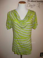 Bobeau Draped Striped Soft Tee Top Small