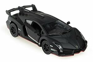 Kinsmart-Lamborghini-Veneno-1-36-Scale-Diecast-Toy-Car-Matte-Black-w-PULL-BACK