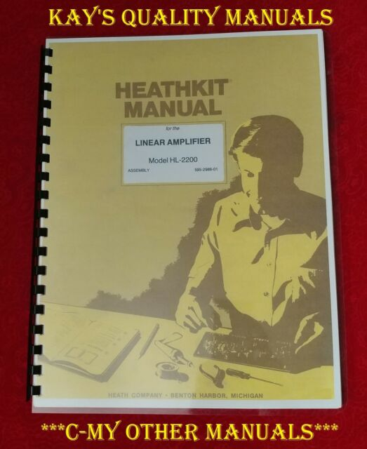 Heathkit Hl-2200 2kw Linear Amplifier 2x Eimac 3-500z Tubes