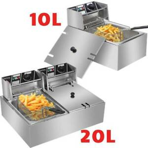 10L-20L-Commercial-Single-Dual-Tank-Stainless-Steel-Electric-Deep-Fryer-Fat-Chip