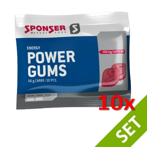 Sponser POWER GUMS RED Energy Snack 10x75g SPARSET Fitness Kaubonbons Energie