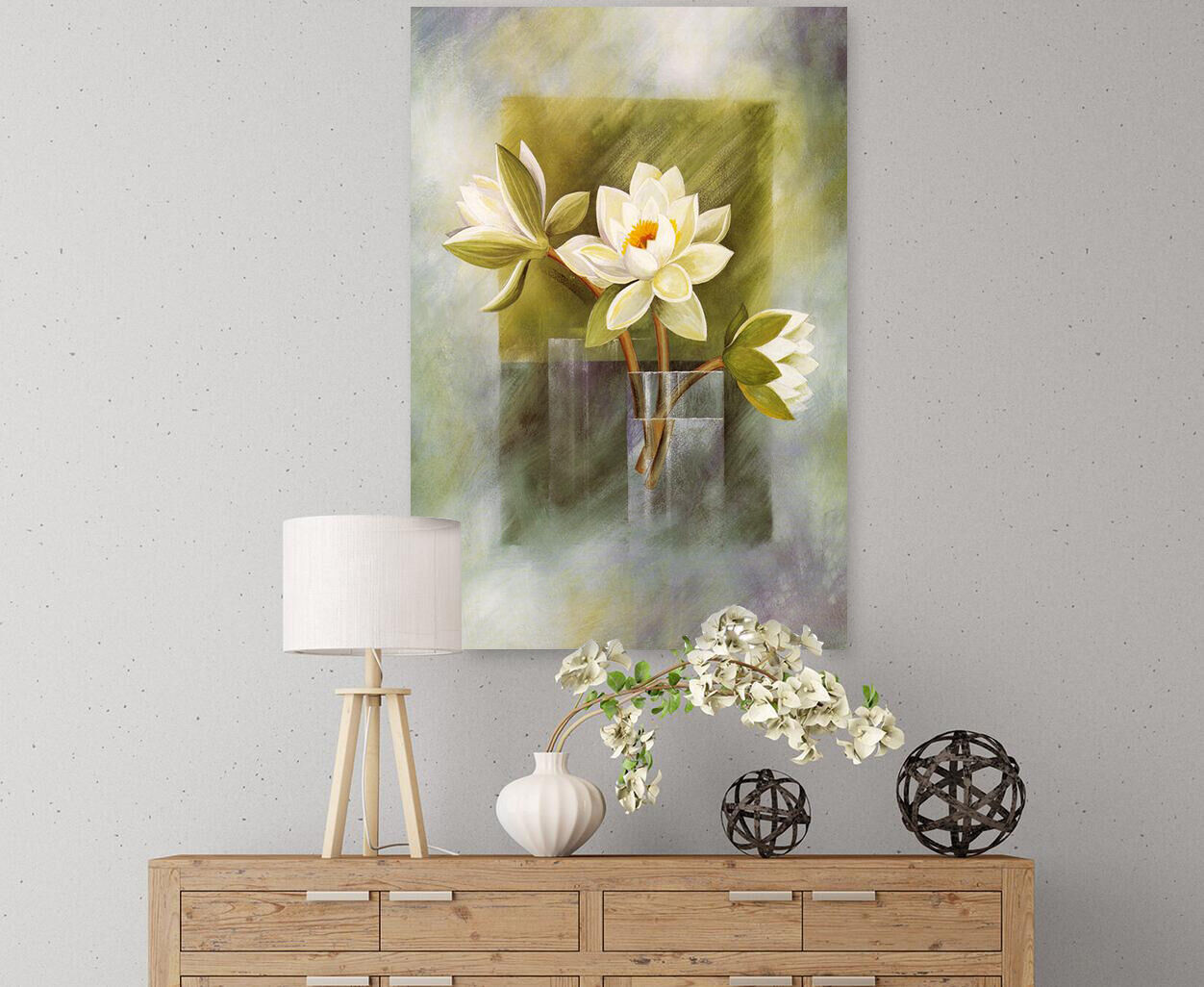 3D whiteer Lotus 2 Fototapeten Wandbild Fototapete Bild Tapete Familie AJSTORE DE