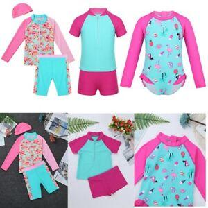 Toddler-Kids-Girls-Rash-Guard-Swimwear-Tankini-Swimsuit-Bathing-Suit-Beachwear
