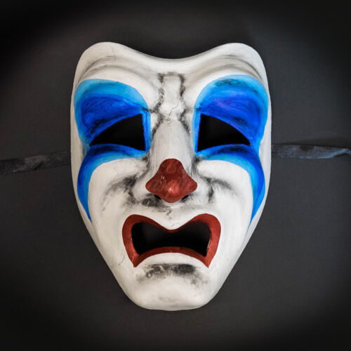 Masquerade Mask Limited Edition 2017 Halloween Tragedy Face Sad Clown Costume