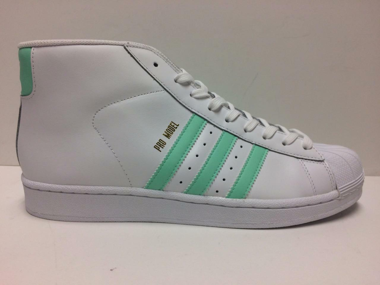 ADIDAS ORIGINALS PRO MODEL BY3728 FOOTWEAR RUNNING WHITE/EASTER GREEN/GOLD MET