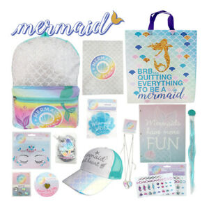 Mermaid-Showbag-Girls-Gift-Bag-Backpack-Cap-Body-Glitter-Hair-Extension-Gift