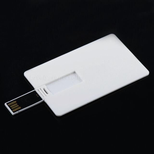 64GB Credit Card USB 2.0 Flash Drive Blank DIY Memory Stick Wholesale Bulk