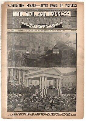 1901 Correo Y Express Marzo 9 - Big William Mckinley Inauguración Issue