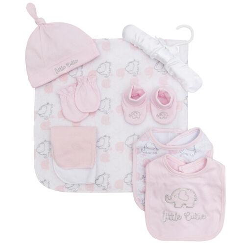 Baby Girls and Boys 9 Piece Gift Set Clothing Bib Gloves socks NEW BabyTown