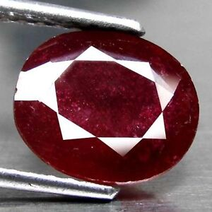 RARE-8x6mm-OVAL-FACET-DEEP-RED-PURPLE-NATURAL-INDIAN-RUBY-GEMSTONE-APP-152